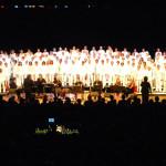Concert du Chœur de France, 200 choristes.
